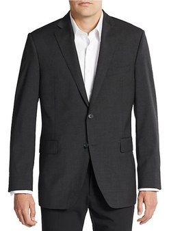 Slim-Fit Solid Wool Sportcoat by Saks Fifth Avenue in Elementary