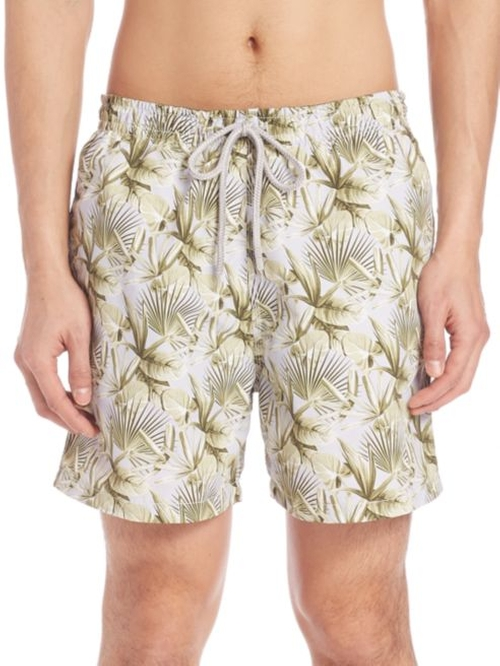 Palm Leaf Swim Trunks by Saks Fifth Avenue Collection  in The Bachelorette - Season 12 Episode 7