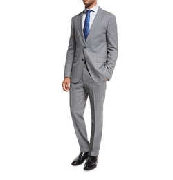 Mini-Check Wool Two-Piece Suit by Boss Hugo Boss in The Flash
