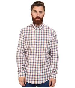 Plaid Long Sleeve Woven Heritage Shirt by Original Penguin in Modern Family