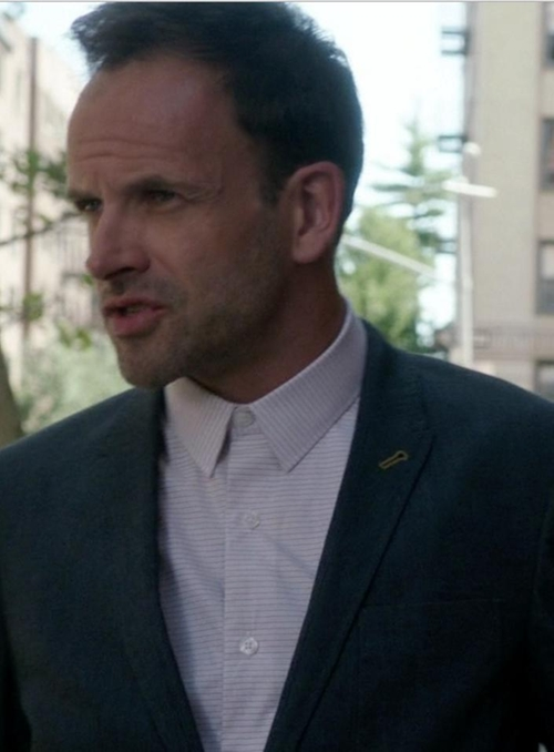 Custom Made Pencil Stripe Shirt by Cego in Elementary - Season 4 Episode 3