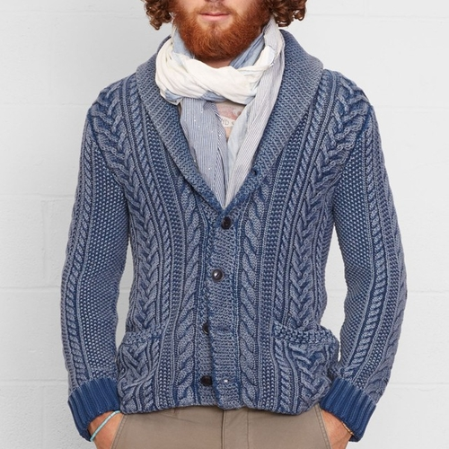 Cable Knit Shawl Cardigan by Ralph Lauren in Keeping Up With The Kardashians - Season 12 Episode 6