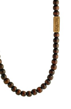 Dark Brown Color Wood Bead Necklace by SwaggWood in Hall Pass