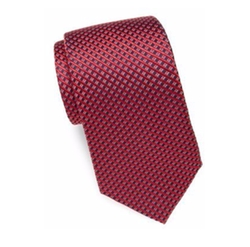 Mini-Check Silk Tie by Saint Laurent in Molly's Game