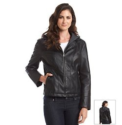 Faux Leather Scuba With Zipout Hoodie by Giacca in Fast & Furious 6