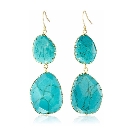 Double Turquoise Drop Earrings by Panacea in Mistresses - Season 4 Episode 2