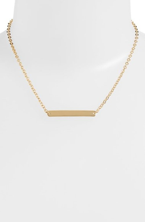 Bar Pendant Necklace by Nordstrom in The DUFF