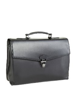 Leather Absolute Briefcase by Hugo Boss in The Counselor