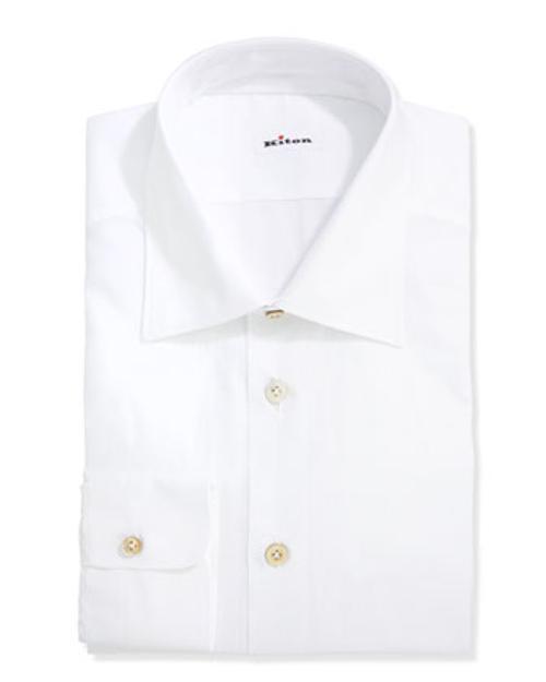 Basic Poplin Dress Shirt by Kiton in The Judge