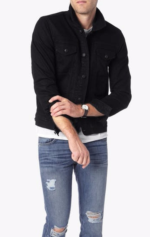 FoolProof Denim Trucker Jacket by 7 For All Mankind in Suits - Season 5 Episode 16