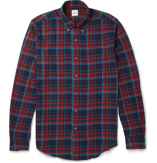 Button-Down Collar Cotton-Flannel Shirt by Aspesi in Scandal - Season 5 Episode 9