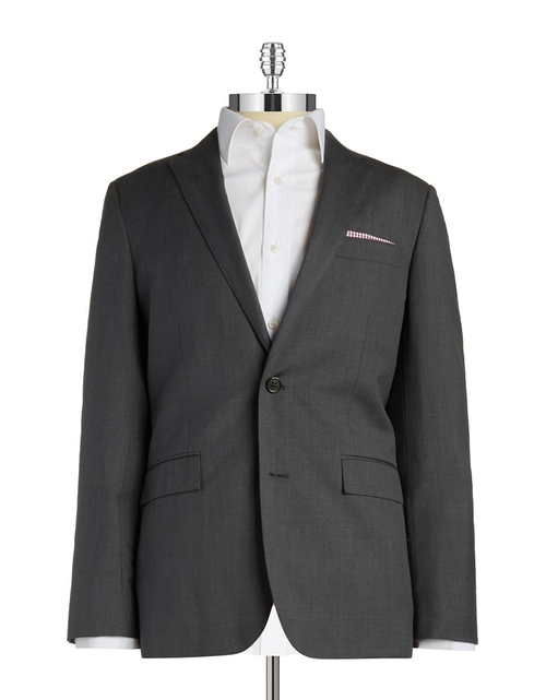 Two-Button Wool Blazer by Brooks Brothers Red Fleece in Elementary