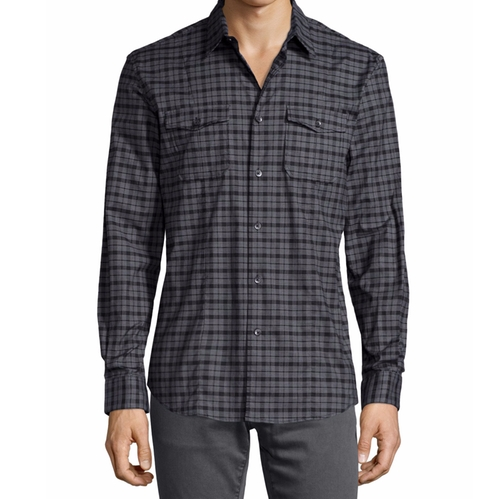 Check Long-Sleeve Sport Shirt by John Varvatos Star USA in Quantico - Season 2 Episode 1