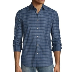 Plaid Slim-Fit Sport Shirt by John Varvatos Star USA in Fifty Shades Darker