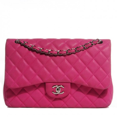 Iridescent Caviar Jumbo Double Flap Bag by Chanel in The Mindy Project - Season 4 Episode 7