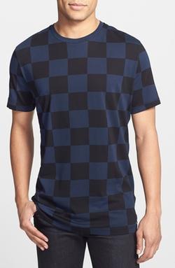 Racing Flag Check Print T-Shirt by Hugo in Pretty Little Liars