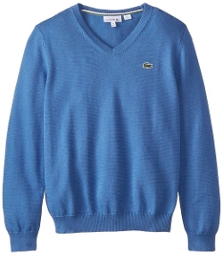Big Boys' Long Sleeve Cotton V Neck Sweater by Lacoste in Me and Earl and the Dying Girl