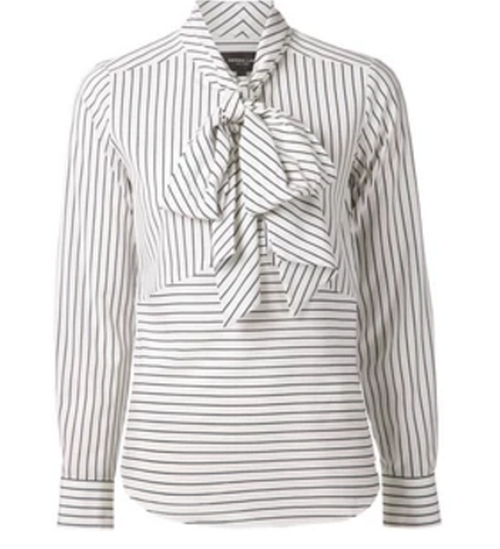 Striped Pussy Bow Blouse by Derek Lam in Scandal - Season 5 Episode 17