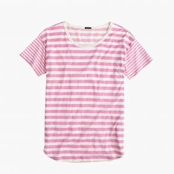 Mixed-Stripe Vintage Cotton T-Shirt by J.Crew in Jane the Virgin