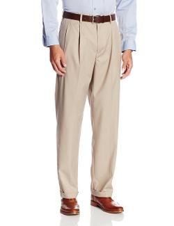 Men's Select Edition Pleated Gaberdine Dress Pant by Savane in Neighbors