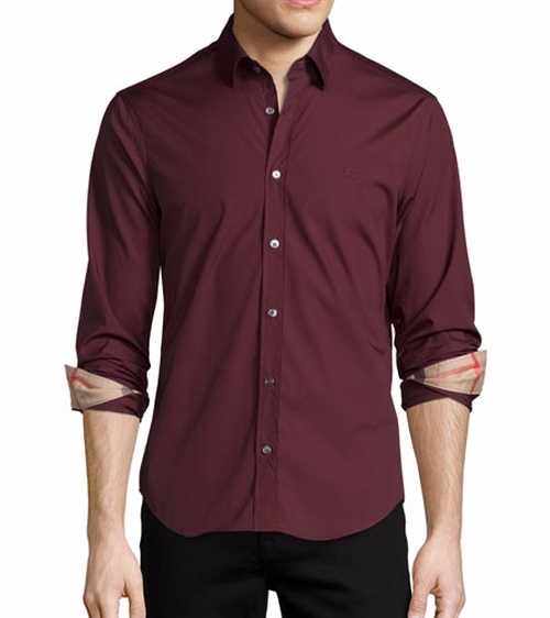 Cambridge Check-Detail Sport Shirt by Burberry in Suicide Squad