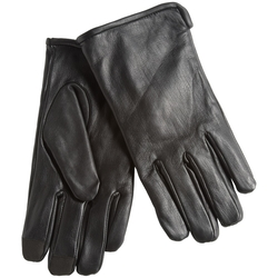 Rivet Leather Gloves by Calvin Klein in Underworld