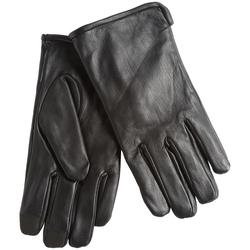Rivet Leather Gloves by Calvin Klein in Underworld