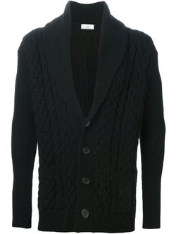 Shawl Neck Cable Knit Cardigan by Ami Alexandre Mattiussi in Master of None