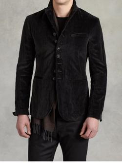 Velvet Multi Button Jacket by John Varvatos in Shadowhunters