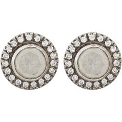 Diamond & Platinum Stud  Earrings by Zoe in The Loft