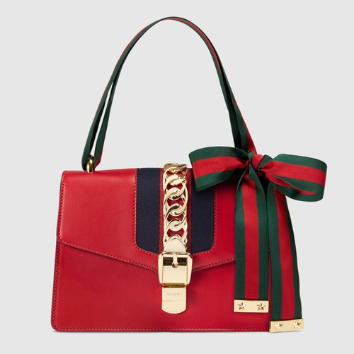 Sylvie Leather Shoulder Bag by Gucci in Keeping Up With The Kardashians