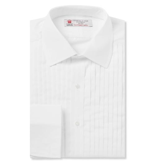 Sea Island Cotton Tuxedo Shirt by Turnbull & Asser in GoldenEye