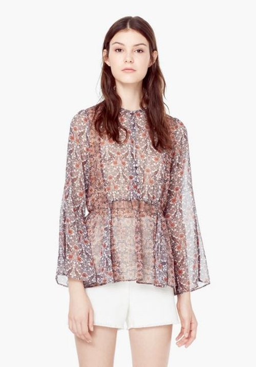 Floral Printed Blouse by Mango in The Vampire Diaries - Season 7 Episode 1