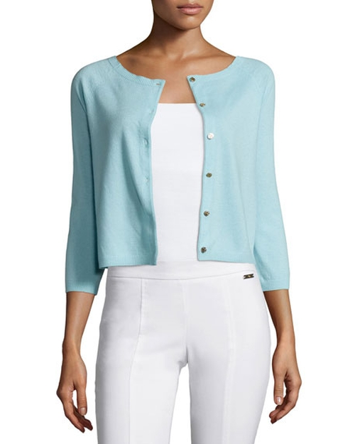 Rosemary Cashmere Cardigan by Tory Burch in Keeping Up with the Joneses