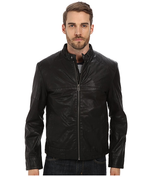 Moto Jacket With Articulated Sleeves by Cole Haan in Spotlight