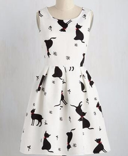 Good Mews Travels Cat Fast Dress by My Cat Lady in Fuller House