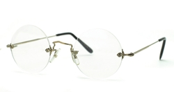 Diaflex Round Rimless Eyeglasses by Savile Row in Steve Jobs