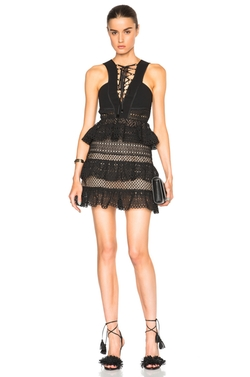 Lace Up Tiered Dress by Self-Portrait in Pretty Little Liars