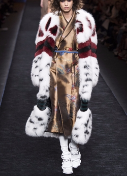 Leopard Fur Coat by Fendi in Empire