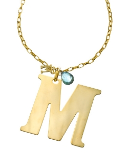 Aquamarine Briolette Pendant Necklace by A.V. Max in Paper Towns