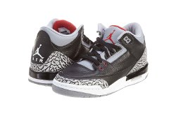 Mens Air Jordan Retro 3 OG Basketball Shoes by Nike in Entourage