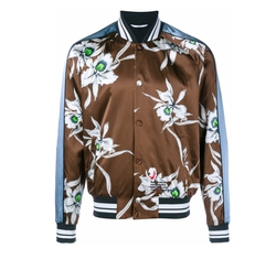Orchid Print Bomber Jacket by Valentino in Empire