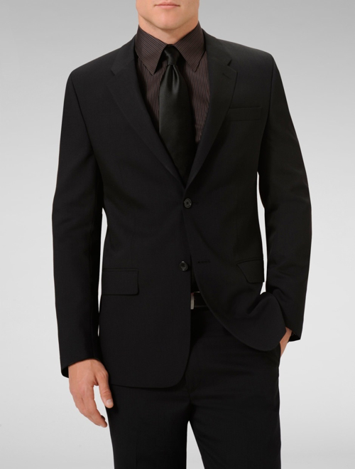 Slim-Fit Black Wool and Mohair-Blend Suit by Alexander McQueen in Crazy, Stupid, Love.