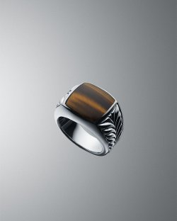 Tiger's Eye Chevron Ring by David Yurman in Crazy, Stupid, Love.