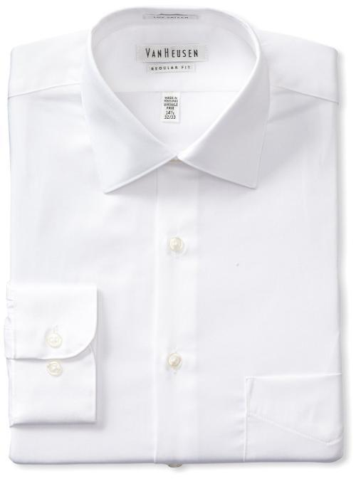 Men's Regular Fit Lux Sateen Dress Shirt by Van Heusen in Wish I Was Here