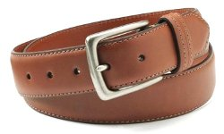 Sportswear Mens Double Stitched Leather Belt Brown by Columbia in Vice
