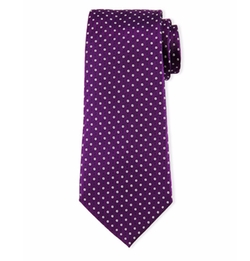 Neat Circle-Dot Printed Tie by Armani Collezioni in Ballers