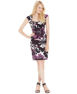 Floral-Print Sheath Dress by Connected in Mamma Mia!