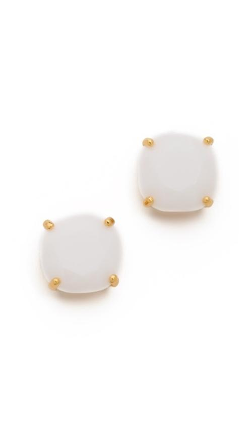 Small Square Stud Earrings by Kate Spade New York in The Disappearance of Eleanor Rigby