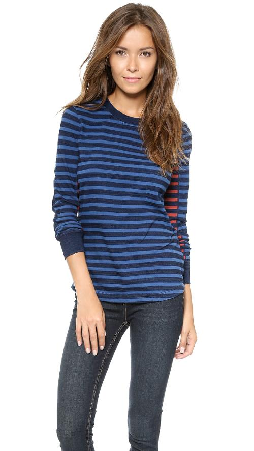 Tomiko Indigo Long Sleeve Shirt by Marc by Marc Jacobs in No Strings Attached